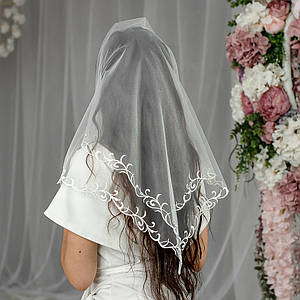 Очень Нежный Свадебный платок Полли белый