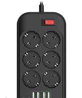 Удлинитель сетевой фильтр Ldnio SE6403(TopTrends)