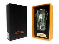 Аккумуляторная электро импульсная спиральная USB зажигалка в подарочной упаковке L-15636(TopTrends)