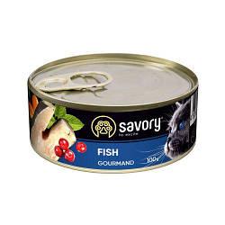 Корм консервы Savory для взрослых кошек всех пород с рыбой 100 г