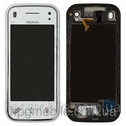 Сенсорный экран для Nokia N97 Mini, с передней панелью, белый, оригинал
