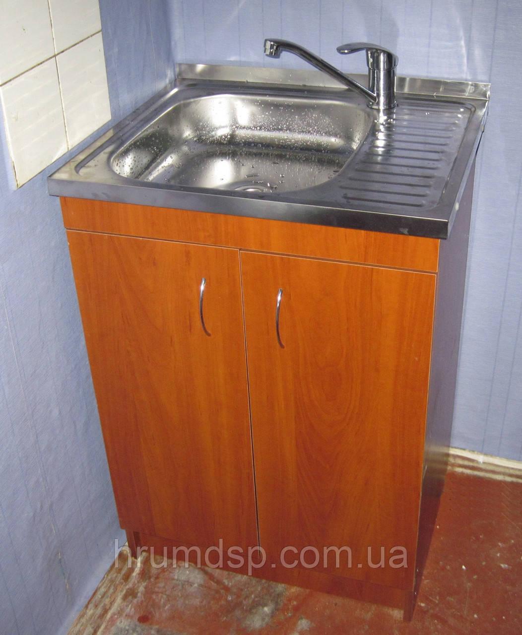 Мойка кухонная 60х50 с тумбой и кран HAIBA ZEON