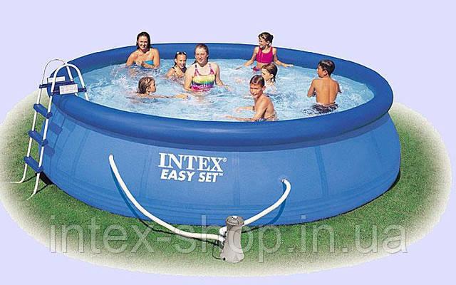 Надувной бассейн Intex 28168 (54916) (457х122 см.), фото 2