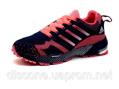 Кроссовки Adidas Marathon TR 15, женские, синие, розовые вставки