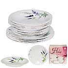 Набір посуду обідній 18 предметів Прованс, склокераміка 450-120-18