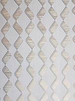 Шпалери метрові вінілові на флізелін Marburg Villa Romana геометрія смужки зигзаг золотисті на сірому, фото 1