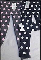 Детские котоновые лосины двойная вязка на рост 92-122, крупный горох