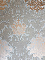 Обои метровые виниловые на флизелине Marburg Villa Romana классические вензеля завитки золотистые коричневые, фото 1