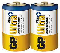 Батарейка GP 13AUP-S2 Ultra Plus alkaline LR20 D (трей 2/20)