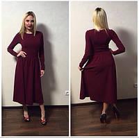 Платье миди с расклешенной юбкой