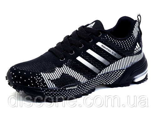 Кроссовки Adidas Marathon TR 15, унисекс, черные, белые вставки