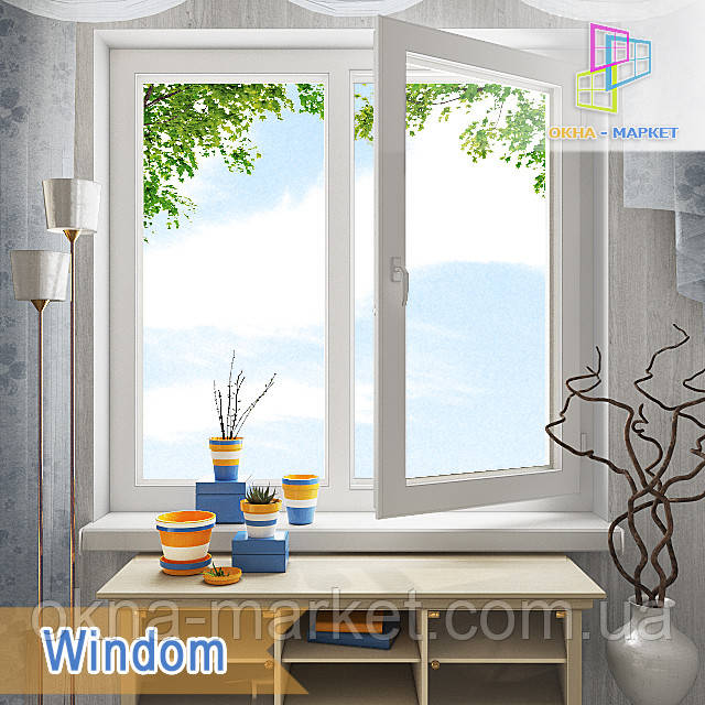 Пластиковые двустворчатые окна Windom Киев