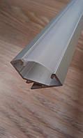Алюминиевый профиль для светодиодной ленты угловой с рассеивателем LED-07 (ЛПУ-17), фото 1