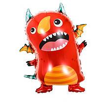 Фольгированный шар большая фигура монстрик красный 60х69,5см Китай