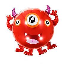 Фольгированный шар большая фигура монстрик Триокий Джо 66,5х58см Китай
