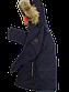 Зимняя куртка на подростков мех натуральный енот цвет темно синий  152 см, фото 7