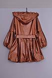 Л-88 Куртка на флісі тепла для дівчинки розмір 152-158 і 158-164 салатова, фото 2