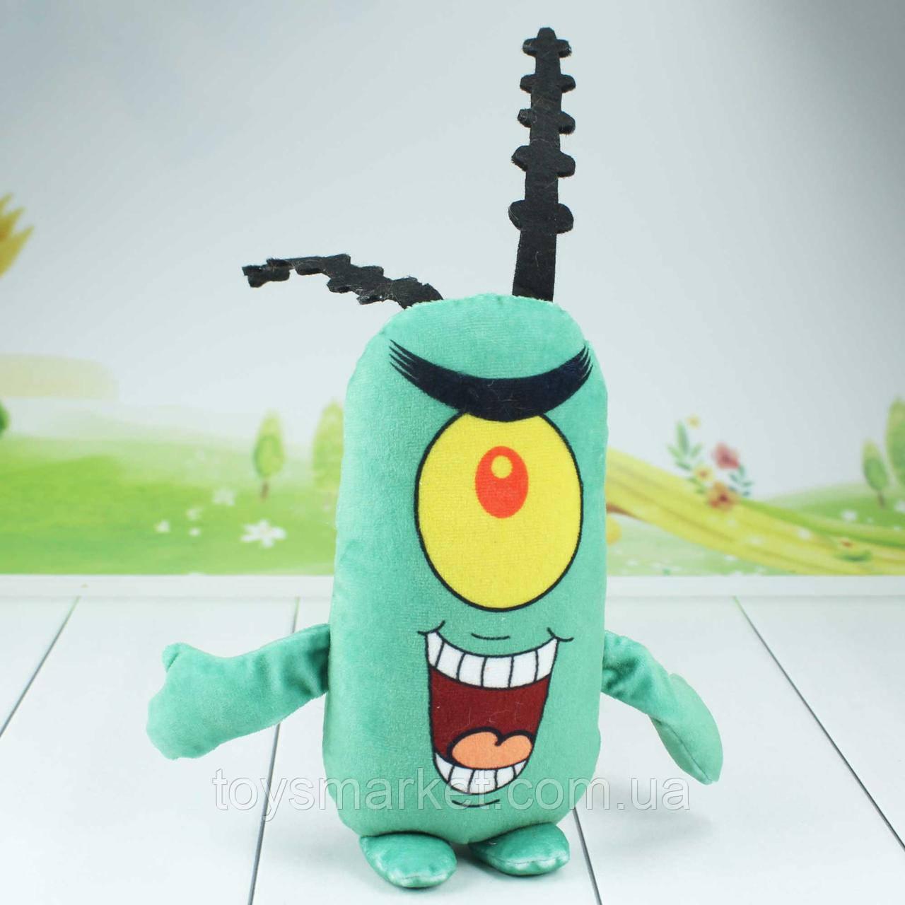 """Мягкая игрушка Шелдон Планктон """"Губка Боб"""", """"Губка Боб Квадратные Штаны""""."""