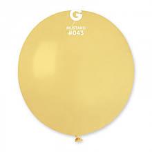 "Латексна кулька пастель гірчичний 19""/ 43 /48 см  Mustard"