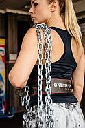 Пояс для пауэрлифтинга с карабином, 10см, 2 слоя MEDIUM ONHILLSPORT/ пояс штангиста /пояс для тяжелой атлетики, фото 6