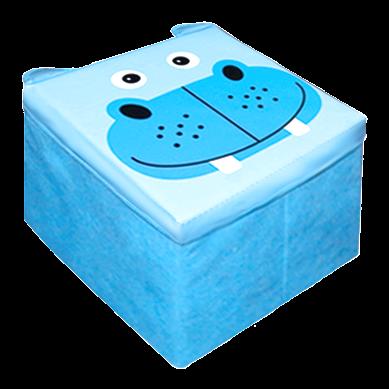 Ящик-пуфик для іграшок. Зоопарк