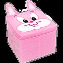 Ящик-пуфик для іграшок. Зоопарк, фото 4