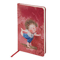 Книга записная А5 Axent Gapchinska (Гапчинская) 8406-04-A в тканевой обложке, 96 листов, кремовая, клетка