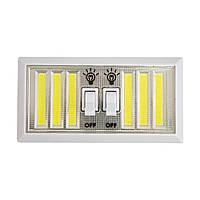 Светильник настенный светодиодный LED двойной с кнопками включения | подвесной светильник на батарейках (TI)