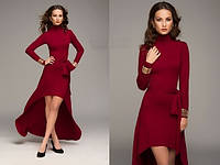 Платье со шлейфом асимметричное