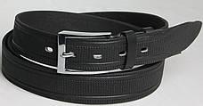 Длинный брючный мужской кожаный ремень 3069 чёрный ДхШ: 143х3,5 см.!!!