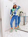 Жіночий спортивний велюровий костюм з яскравим худі, з капюшоном і кишенею кенгуру, 42, 44, 46, 48, малина, фото 2