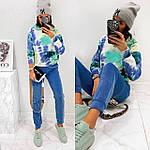 Жіночий спортивний велюровий костюм з яскравим худі, з капюшоном і кишенею кенгуру, 42, 44, 46, 48, малина, фото 5