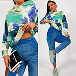 Жіночий спортивний велюровий костюм з яскравим худі, з капюшоном і кишенею кенгуру, 42, 44, 46, 48, малина, фото 6