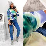 Жіночий спортивний велюровий костюм з яскравим худі, з капюшоном і кишенею кенгуру, 42, 44, 46, 48, малина, фото 9