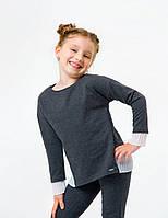 Світшот для дівчинки SMIL 116441 р. 158 Темно-сірий меланж