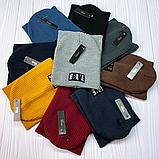 """М 93070 Комплект для хлопчика-підлітка шапка будиночок """"BRAVE"""" і снуд, 3-10 років, різні кольори, фото 10"""