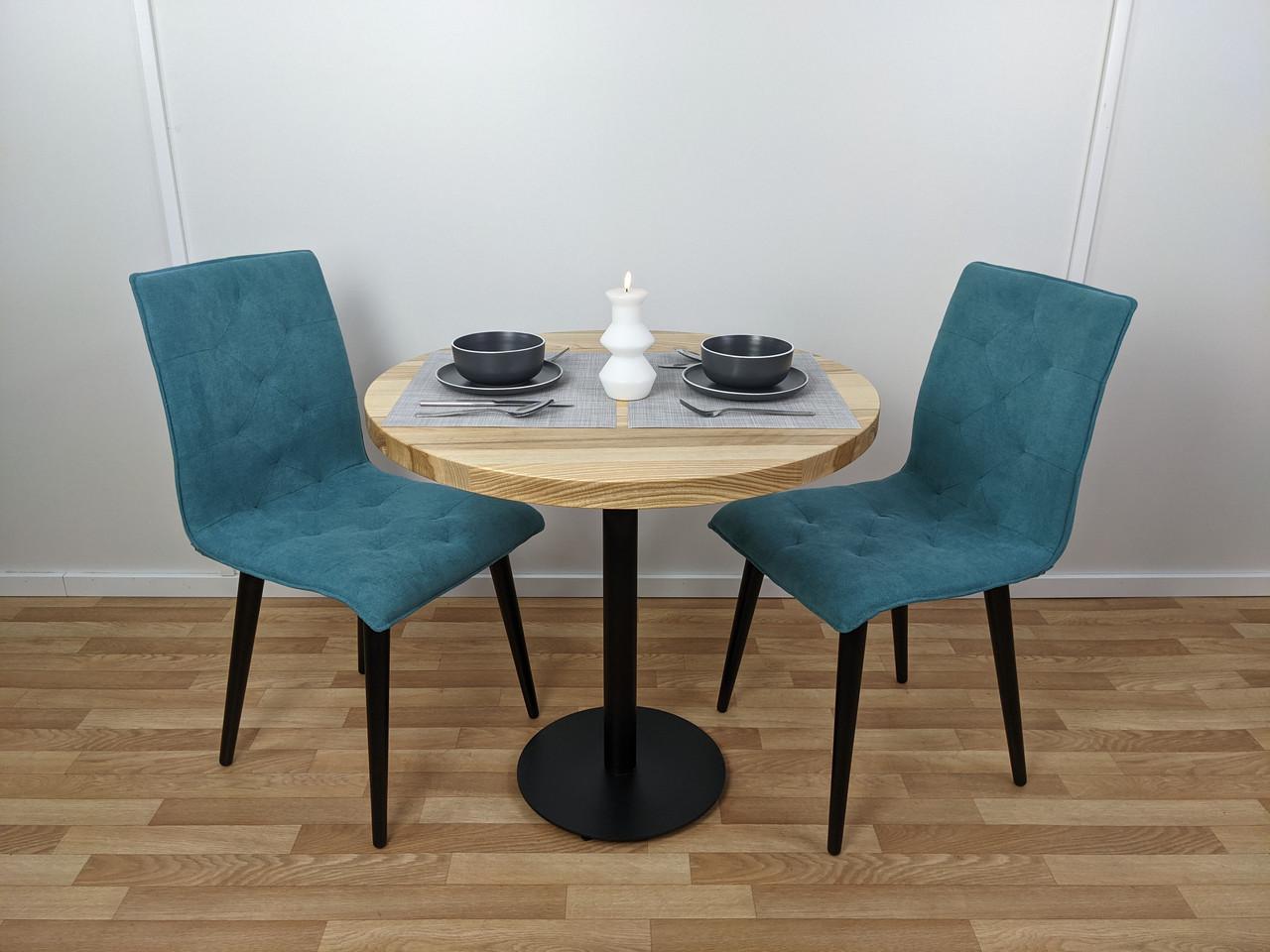 Круглий стіл для кафе з натурального дерева