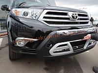 Накладка на бампер передняя Toyota Highlander 2010-14