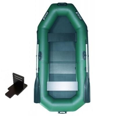 Надувная лодка Ладья ЛТ-250АЕСТ двухместная гребная с веслами и передвижным сиденьем 2.49 м (lad_ЛТ-250АЕСТ)