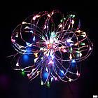 Гірлянда нитка світлодіодна Краплі Роси 30 LED, Мультикольорова, дріт, на батарейках, 3м., фото 4