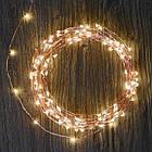 Гирлянда нить светодиодная Капли Росы 30 LED, Золотая (Желтая), проволока, на USB, 3м., фото 8