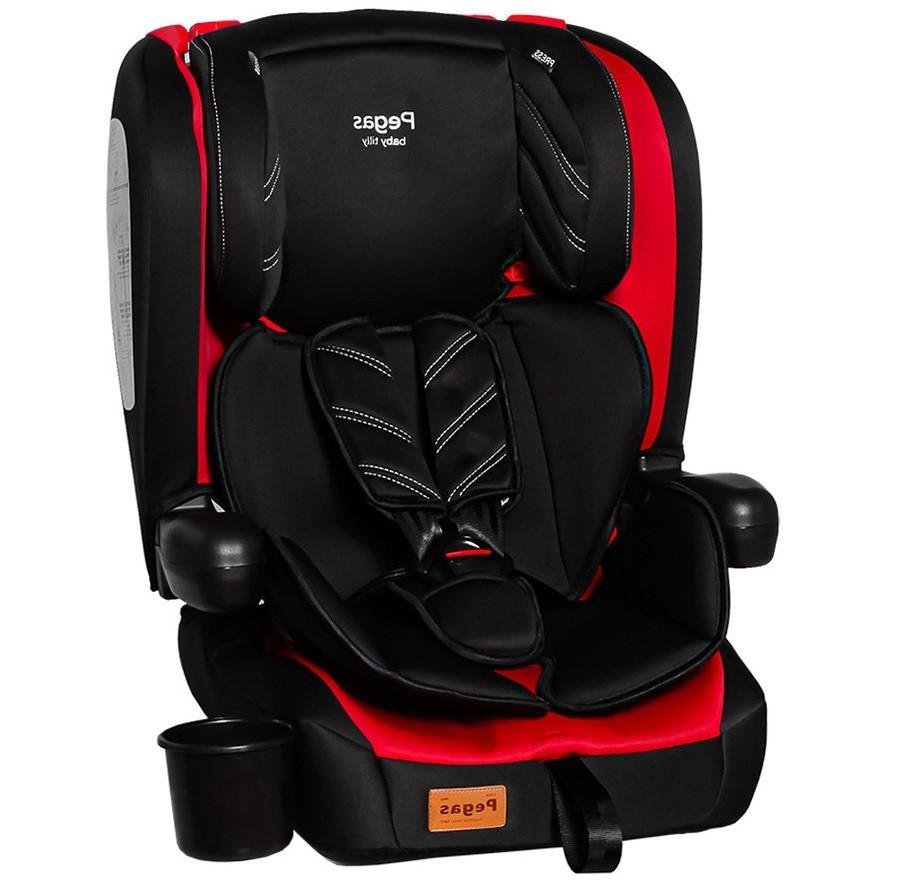 Автокрісло дитяче від 9 місяців до 12 років (9-36 кг), з знімною оббивкою і підсклянником, Tilly Pegas T-533 Red