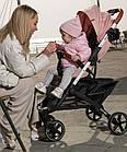 Коляска прогулочная с сумкой для путешествий и москитной сеткой, капюшон, Carrello Astra CRL-5505 Apricot Pink, фото 2
