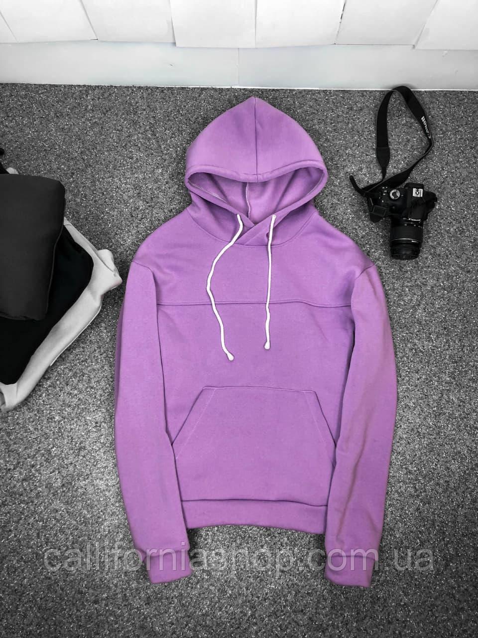 Худі толстовка фіолетове кольору утеплене на флісі з капюшоном