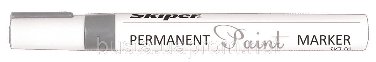 Лак - маркер серебряный Skiper