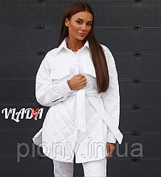 Женская Куртка-Рубашка с поясом