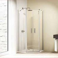 Двустворчатая распашная дверь с неподвижными сегментами 100x100 см Huppe Design elegance 8E1802