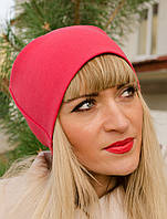 Женская двойная трикотажная шапка, цвета в ассортименте