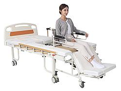 Медичне функціональне ліжко MIRID W02. Ліжко з вбудованим кріслом. Ліжко для реабілітації.