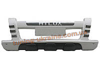 Накладка на бампер передняя Toyota Hilux 2012+